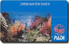 PADI Open Water Diver License